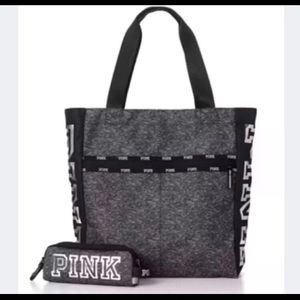 🆕 PINK LOGO LIMITED EDITION TOTE & TECH POUCH